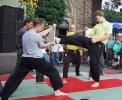 01-Vorführung auf dem Repelener Dorffest im August 2001